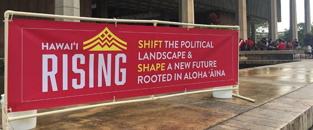 Hawaii risiing sign