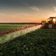 Spraying pesticides on farm