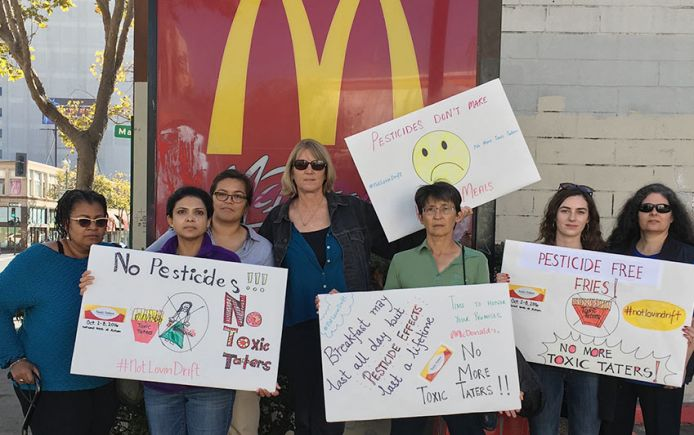 McDonald's protest Toxic Taters