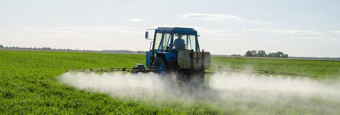 pesticide spray in field