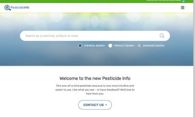 Pesticide Info Screenshot