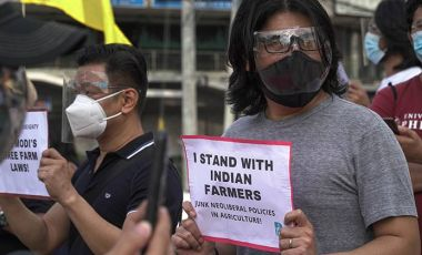 Solidarity protest India farmers