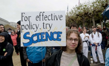 Science sign protest