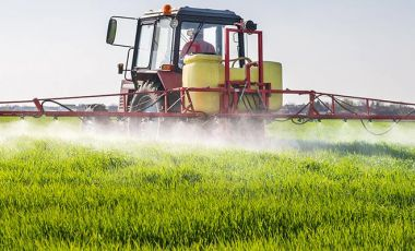 Pesticide spraying industrial scale