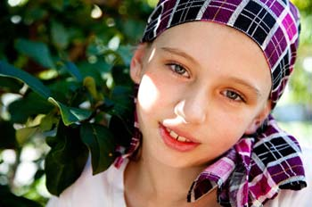 Girl battling cancer