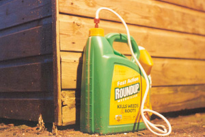 Round Up. Kills Weeds...